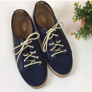 Clarks Artisan Reeney Rita Lace Up Leather Sneaker